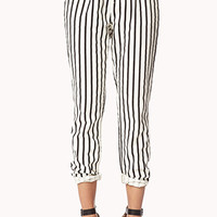 Striped Denim Trousers