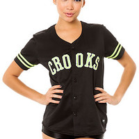 The Athletica Baseball Jersey in Black