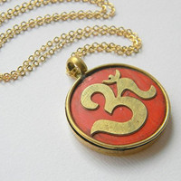 OM Tibetian Pendant Necklace