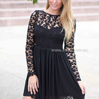 SPLENDED ANGEL 2.0 DRESS , DRESSES, TOPS, BOTTOMS, JACKETS & JUMPERS, ACCESSORIES, 50% OFF SALE, PRE ORDER, NEW ARRIVALS, PLAYSUIT, COLOUR, GIFT VOUCHER,,LACE,Black,LONG SLEEVES Australia, Queensland, Brisbane