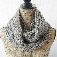SALE RTS Ryan Gray Handmade Crochet Knit Infinity Scarf Cowl Necklace Accessory