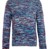 Blue Mix Knit Sweater