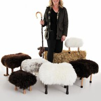 Baa Stool - Sheepskin Footstool