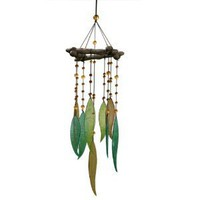 Amazon.com: Grasslands Road World Garden Glass Leaves and Beads Windchime/Mobile: Patio, Lawn & Garden