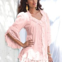 Denim 24/7 Plus Size Whitney Lace Shirt
