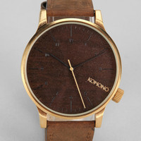 KOMONO Winston Gold Wood Watch - Urban Outfitters