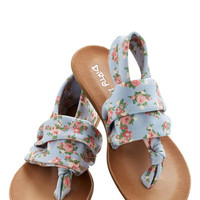 ModCloth Pastel Stay in the Loop Sandal in Pastel Floral