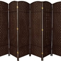 Best Room Divider Deal Quality Value Sturdiness - 6ft. Diamond Rattan Style Plant Fiber Folding Privacy Screen - 7 Colors - 4 Sizes