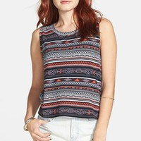 Rubbish® Print Cotton Muscle Tank (Juniors) | Nordstrom
