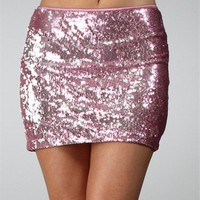 Pink Sequin Mini Skirt :: www.windsorstore.com
