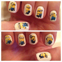Despicable Me Minions Nail Decals