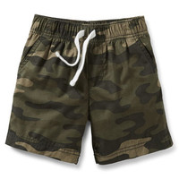 Woven Pull-On Camo Shorts