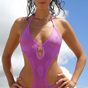 809 Sheer Vision One Piece Swimsuit | Bikinis | Wicked Weasel