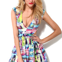 Print Cutout Party Dress
