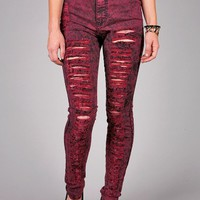 Acid Wreck High Waist Skinnys | Trendy Denim at Pink Ice