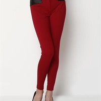 Cynthia Steffe Faux Leather Accented Pants - 			        	For Your Little One: Designer Pieces Shop