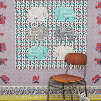 Elephant Stamp Tapestry Throw - Urban Outfitters
