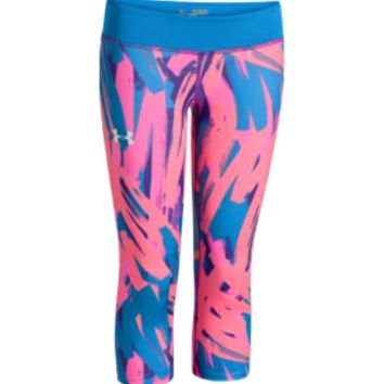 Under Armour Girls' HeatGear Sonic Printed Capris