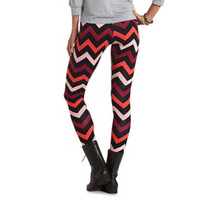 OMBRE CHEVRON COTTON SPANDEX LEGGINGS