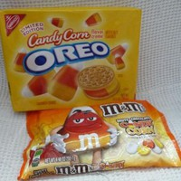 Limited Edition Candy Corn Oreos + White Chocolate Candy Corn M&M's