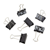 See Jane Work Binder Clips Black Pack Of 6 by Office Depot
