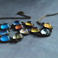 Solar System Necklace-glass dome necklace - galaxy space necklace -Space jewelry - Universe necklace - statement necklace christmas gift