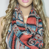 NEW Standout Southwestern Scarf Tribal Scarf Ethnic Scarf Native Scarf Aztec Scarf Wrap Women's Fashion Accessories ESCHERPE