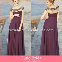 Long Chiffon Off Shoulder Beading Evening Celebrity Dress, View evening dress , cutiebridal Product Details from Suzhou Cutie Bridal Dress Co., Ltd. on Alibaba.com