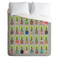 Bianca Green Pineapple Party Duvet Cover - Luxe Duvet Cover /