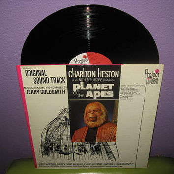 Vinyl Record Album Planet of the Apes Original Soundtrack LP 1968 Sci Fi Classic