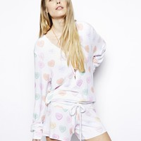 Wildfox Valentines Sweeties Matching Sweatshirt Set