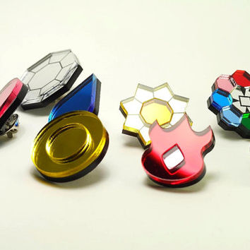Pokemon Gym Badges - Kanto Region