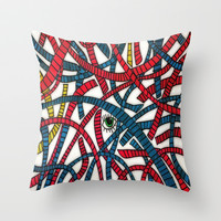 Through The Wire Throw Pillow by DuckyB (Brandi)