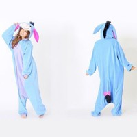 Unisex Adult Onesuit Kigurumi Pajamas Anime Cosplay Costume Dress Eeyore Donkey
