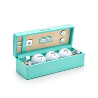 Tiffany & Co. - Golf box in Tiffany Blue textured leather. More colors available.