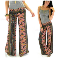 Blossom Breeze Black Paisley Palazzo Pants