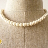 Shinning Natural Color Pearl Necklace