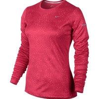 Nike Women's Miler Printed Long Sleeve Running Shirt