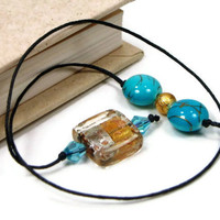 Book Thong Beaded Bookmark, Book Cord, Book String, Gift under 5, Aqua Blue, Gold, Book Club, Teacher Gift
