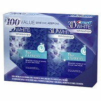 3D White 1 Hour Express Teeth Whitening Strips / Buy One Get One Free Bonus Pack