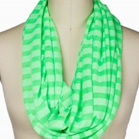 Striped Jersey Eternity Scarf