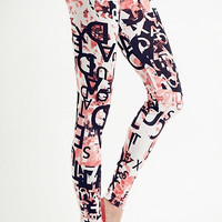 Alphabet printed leggings, yoga leggings, women leggings,tights, legwear