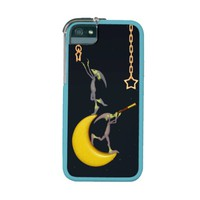 The Moon Dwellers - Whimsical Space Aliens iPhone 5/5S Case