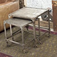Industrial Steel Nesting Side Tables (India)