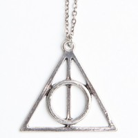 SILVER TRIANGLE WITH CIRCLE NECKLACE