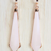 Pale Pink Icicle Earrings