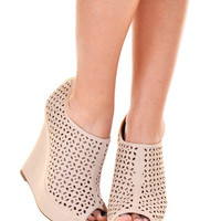 Closet Candy Boutique · Little Bo Peep Wedge - Nude