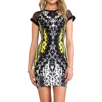 Motel Baylee Dress in Neon Scales Yellow Mix from REVOLVEclothing.com