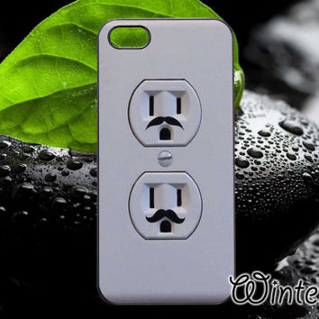 Electric Outlet Mustaches,Accsessories,Case,Cell Phone,iPhone 4/4S,iPhone 5/5S/5C,Samsung Galaxy S3,Samsung Galaxy S4,Rubber-16/10/D-10