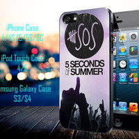 5sos Second Of Summer Logo Galaxy Nebula Samsung Galaxy S3/ S4 case, iPhone 4/4S / 5/ 5s/ 5c case, iPod Touch 4 / 5 case
